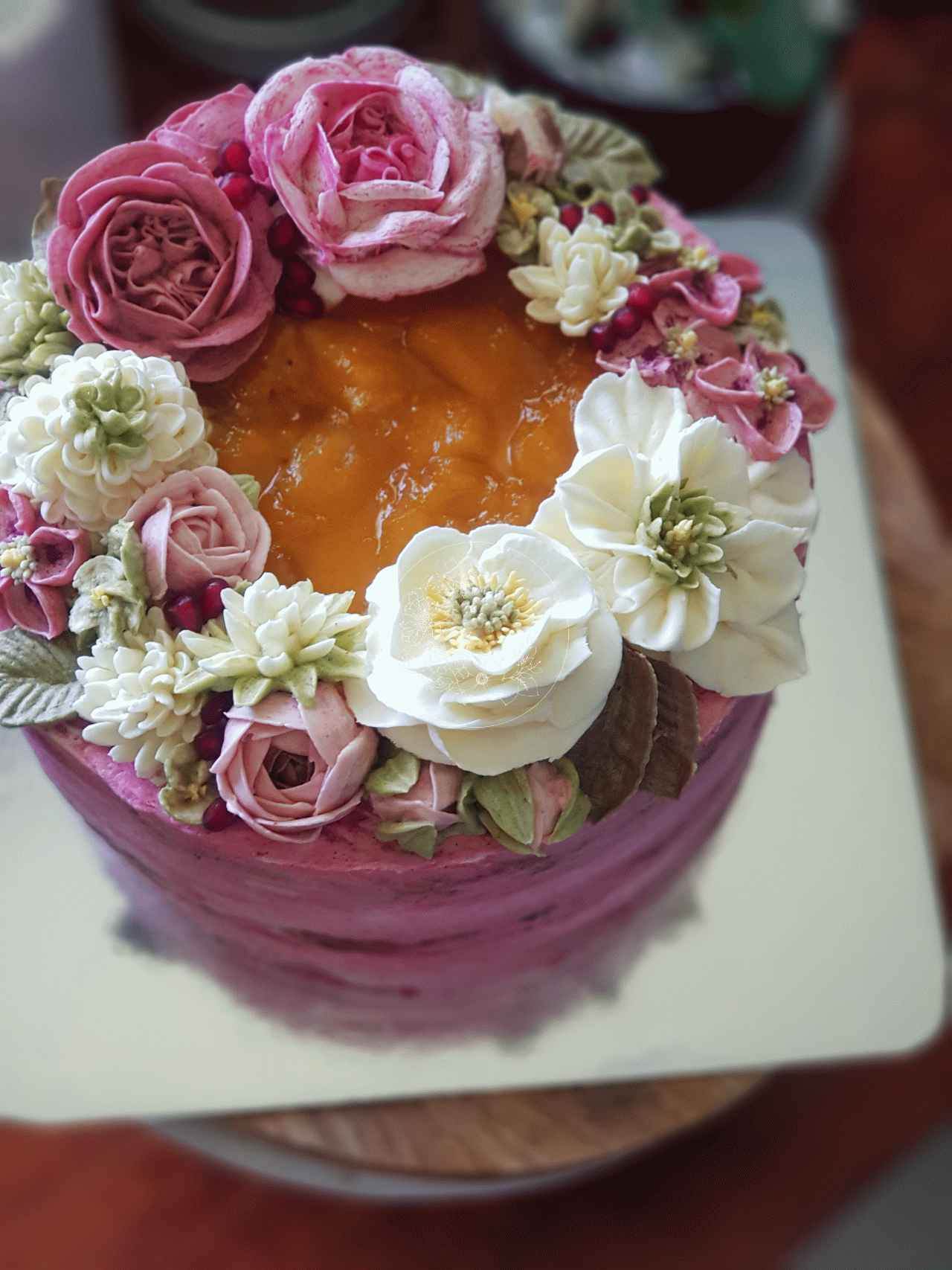 Sweet Blossom 50th Cake Bloominghills