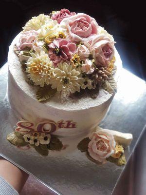 Sweet Blossom pink & cream corsage arrangement