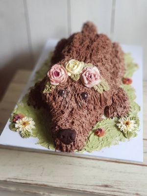 Something unique - 3D dog cake